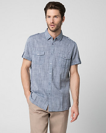Cotton Slub Slim Fit Shirt