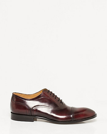 Italian-Made Leather Cap Toe Oxford