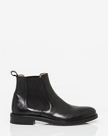 Italian-Made Leather Chelsea Boot