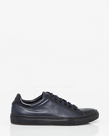 Pebble Leather Cap Toe Sneaker