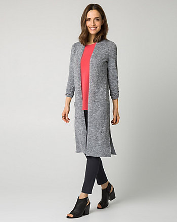 Knit Open-Front Cardigan