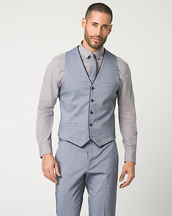 Tonal Stretch Twill City Fit Vest