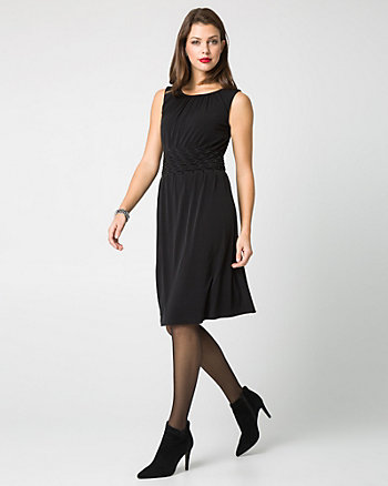Knit Scoop Neck Fit & Flare Dress