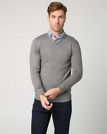 Rayon Blend V-Neck Sweater