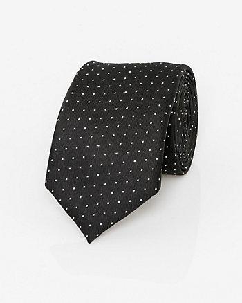 Dot Print Microfibre Tie