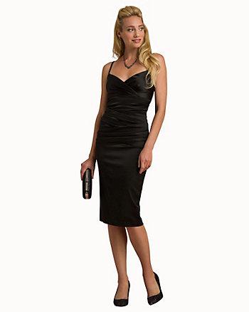 Satin Shift Cocktail Dress