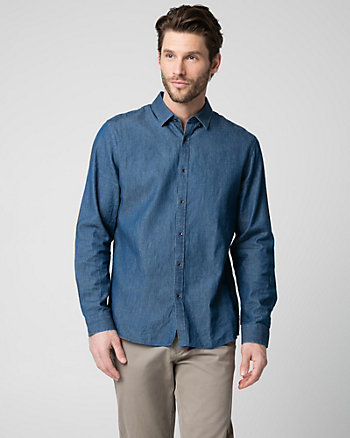 Cotton Denim Tailored Fit Shirt