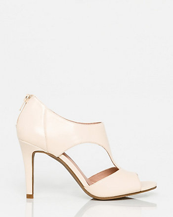 Leather Open Toe Cutout Sandal