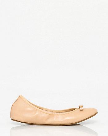 Leather Ballerina Flat