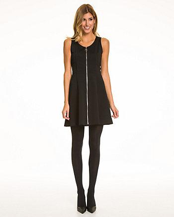 Knit Exposed Zipper Dress