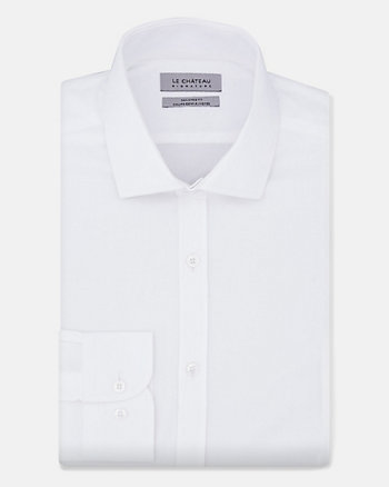 Cotton Sateen Tailored Fit Shirt