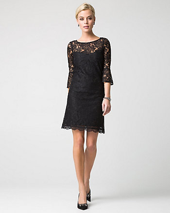 Lace Trapeze Cocktail Dress