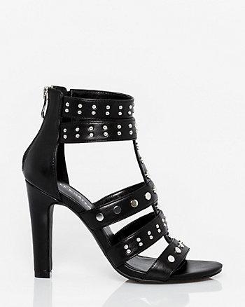 Leather-Like Open Toe Gladiator Sandal