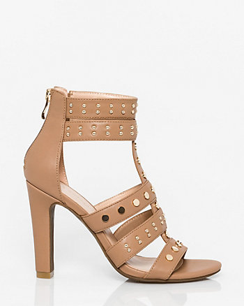 Faux Leather Open Toe Gladiator Sandal