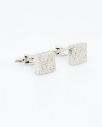 Plaid Metal Square Cufflink