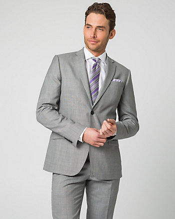 Tonal Wool Blend Contemporary Fit Blazer