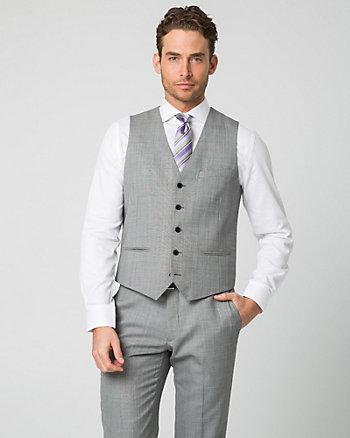 Tonal Wool Blend Contemporary Fit Vest