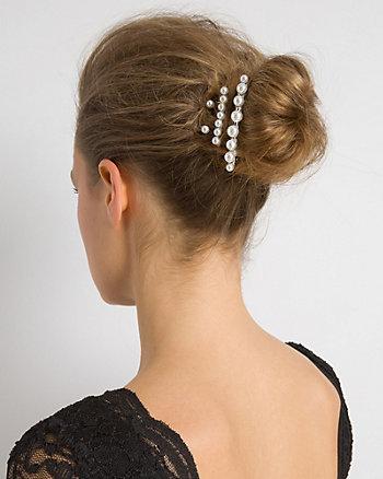 Metal & Pearl-Like Hair Clips