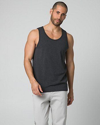 Cotton Blend Crew Neck Tank Top