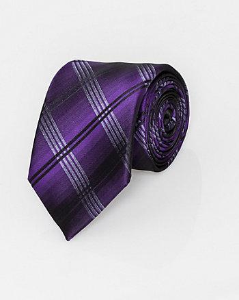 Check Print Microfibre Skinny Tie
