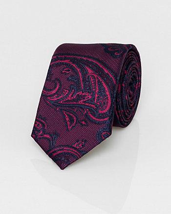 Paisley Print Microfibre Tie