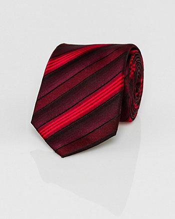 Cravate étroite rayée en microfibre