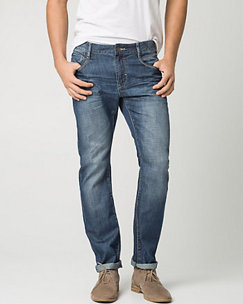 Cotton Denim Slim Leg Pant