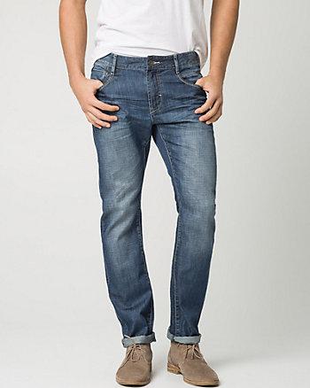 Cotton Denim Slim Leg Pant