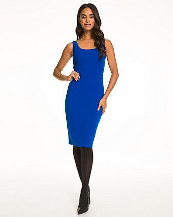 Double Weave Scoop Neck Shift Dress