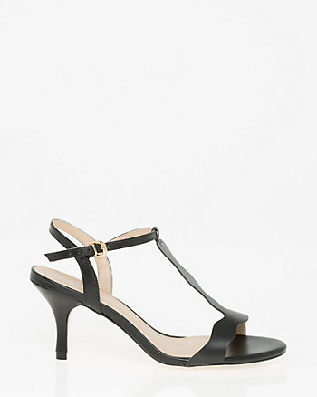Brazilian-Made Faux Leather T-Strap Sandal