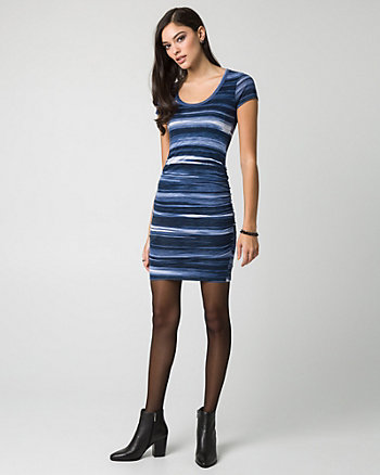 Stripe Jersey Scoop Neck Dress