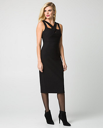 Bengaline Cutout Neck Dress