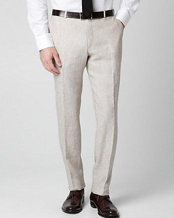 Pantalon à jambe droite en lin
