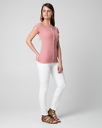 Rib Knit Off-the-Shoulder Top