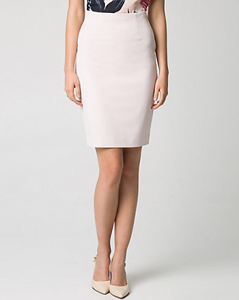 Stretch Crêpe Pencil Skirt