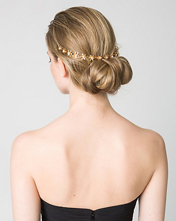 Floral Pearl-Like Headpiece