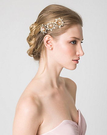Floral Pearl-Like Metal Headband