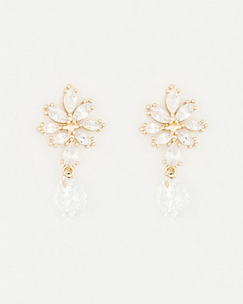 Gem Single Drop Earrings