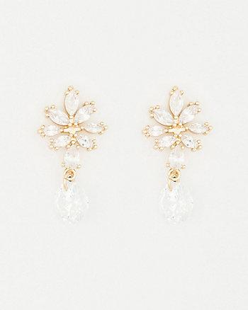 Gem Single Drop Earrings