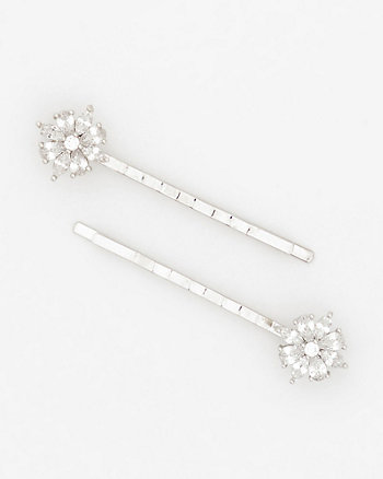 Set of Two Gem Encrusted Bobby Pins
