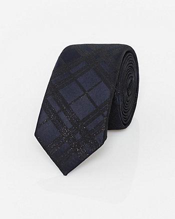 Check Print Lurex Tie