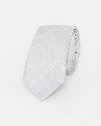 Cravate à carreaux en lurex
