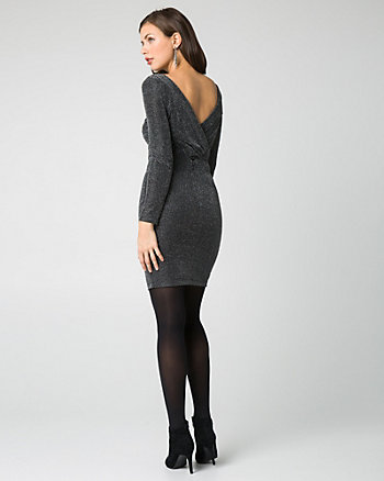 Robe cocktail en tricot scintillant
