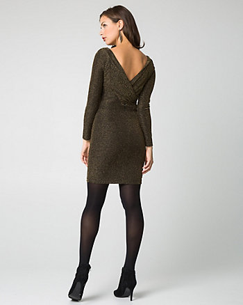 Sparkle Knit Boat Neck Cocktail Dress