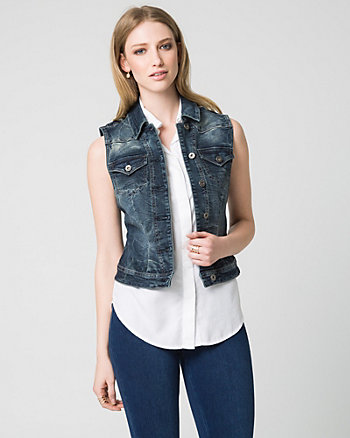 Stretch Denim Vest