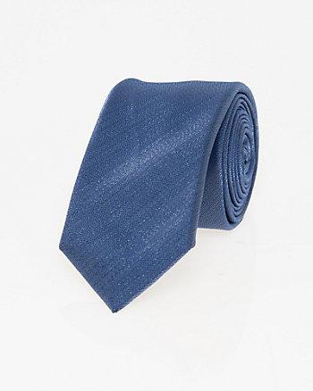Cravate étroite en tricot métallisé