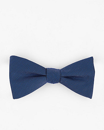 Metallic Knit Bow Tie