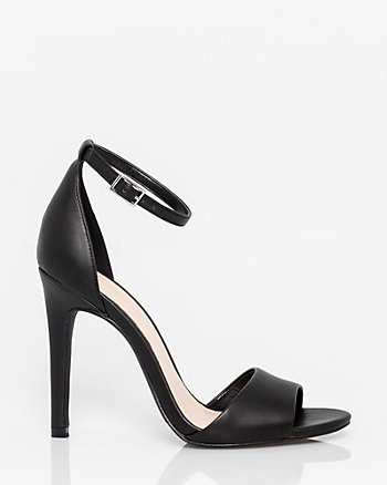 Leather-Like Open Toe Sandal