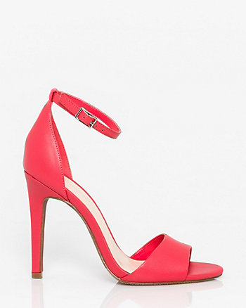 Faux Leather Open Toe Sandal
