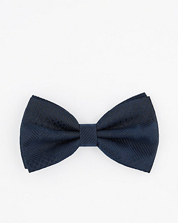 Textured Geometric Print Bow Tie